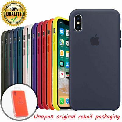 OEM Original Silicone Case For Apple iPhone X 6 6S 7 8 Plus XS Genuine Cover