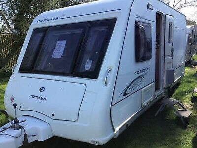Compass corona 474 2009 fixed bed caravan with motor mover