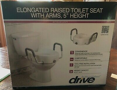 Prime Drive Raised Toilet Seat W Arms Fits Elongated Toilets Uwap Interior Chair Design Uwaporg