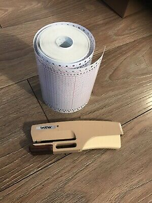 Brother Card Punch And A Big Roll Of Card ( For Knitting Machine)