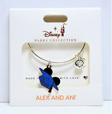 Disney Alex & Ani Bangle Bracelets Mickey Ears Class of 2019 Graduation Cap NEW