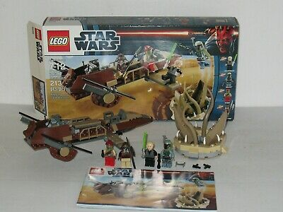 LEGO Star Wars #9496 Desert Skiff; Complete, 4 Minifigures, Instructions & Box