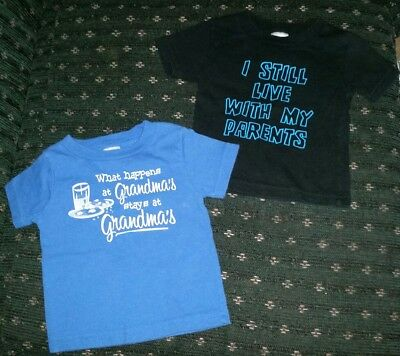 Lot of 2 baby boy tshirts size 6 months Little TEEZ brand