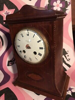 Antique RUSSELLS LTD Inlaid Mantle Clock