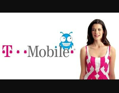 30 day Preloaded Tmobile sim card Prepaid plan $75 Unlimited 4G LTE  New Number