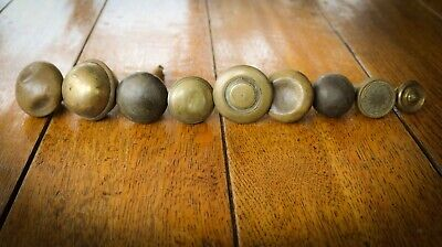 Bundle - Victorian Salvaged Reclaimed - Brass Handle Knobs - Job Lot
