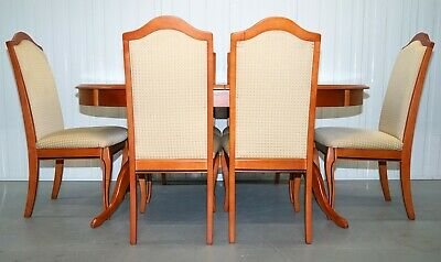 White & Newton Cherry Wood Extendable Dining Table And Six Chairs