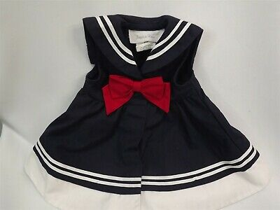 Sophie Rose Navy Blue White Sailor Dress Baby Size 5