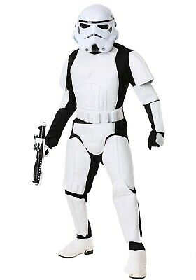 ADULT STAR WARS REALISTIC STORMTROOPER COSTUME SIZE MEDIUM (with defect)