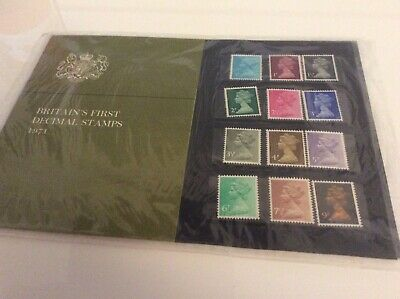 GB Presentation Pack Britain's First Decimal Stamps 1971 From 1/2p To 9p