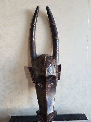 Superb African Antelope wood mask. Nice  example. Ivory Coast.