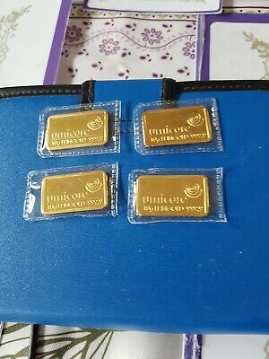 Pure Gold 4 x 10 G Umicore Gold Bar 999.9 Pure Gift Investment