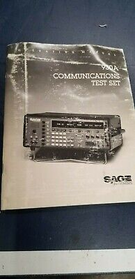 Sage 930A Communications Test Set Operating Manual