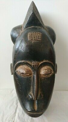 Fine African Baule 'Mblo' wood face mask. Very Nice example. Ivory Coast.