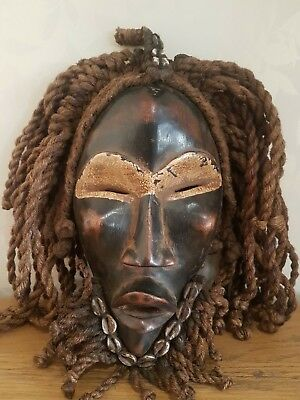 Beautiful, old and used African Dan Deangle wood mask. Fine example. Ivory Coast
