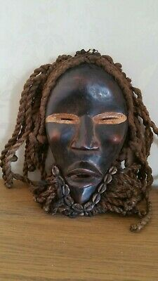 Old African Dan Deangle wood mask. Fine example. Lovely patina Ivory Coast.