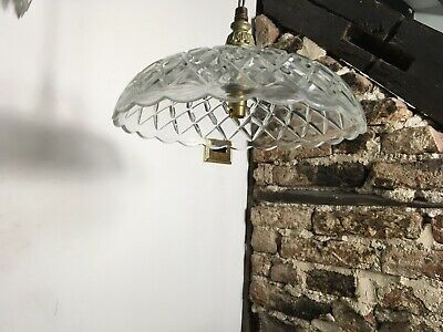 Vintage French Old Glass Light Shade