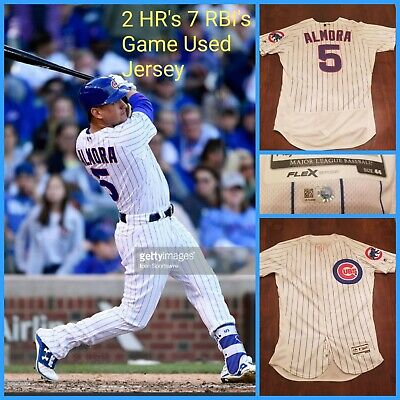 6bac945e2 2017 Albert Almora Game Used Home HOMERUN Jersey MLB Chicago Cubs 2016 WS  Champ