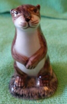 Fabulous China Otter Figure by Quail in Perfect Condition.