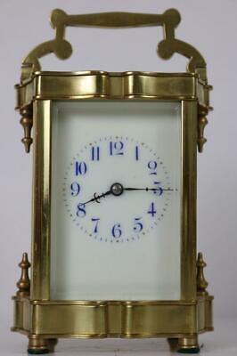 ANTIQUE FRENCH CARRIAGE CLOCK gong striking AWESOME CASE STYLE Chinese gothic