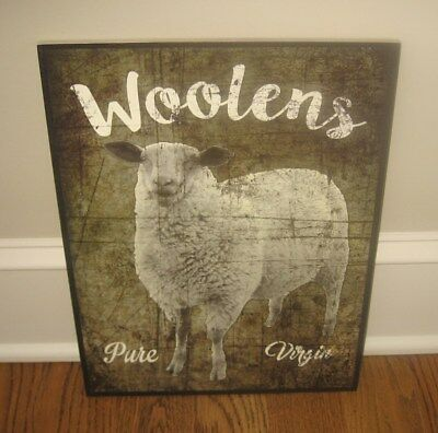 Lamb Sheep Wall Picture SIGN*Primitive French Country Farmhouse Urban Barn Decor