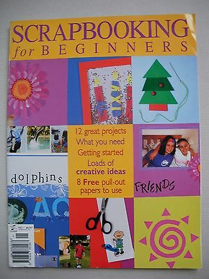 Scrapbooking for Beginners Magazine No. 1 - 12 Projects & 8 Papers - Craft