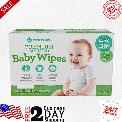 "Aloe Baby Wipe Vitamin E Scented McKesson Baby Wipes 6.8/"" X 7/"" 72 ea 3pk"