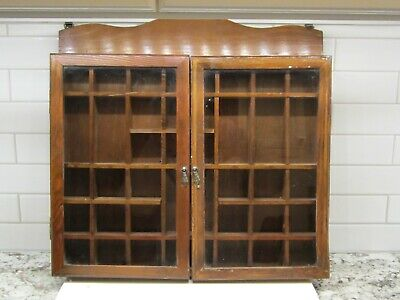 Awe Inspiring Vintage Honey Oak Wood Wooden Curio Display Cabinet Wall Download Free Architecture Designs Pushbritishbridgeorg