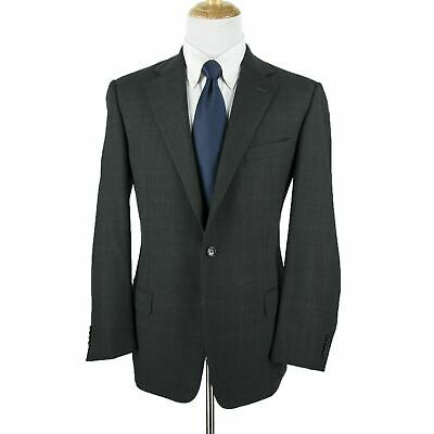 75bd8d3f0509e Ermenegildo Zegna Traveller Charcoal Gray Blue Wool Windowpane 2Btn Jacket  42R