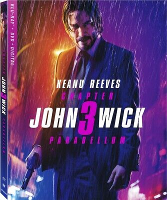 John Wick: Chapter 3 - Parabellum BLU RAY Keanu Reeves PRE ORDER for Aug or Sept