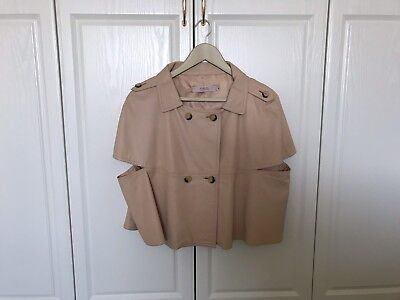 c429c3e4b43 Red valentino Womans Cape Style Leather Jacket In Light Peach Ital 48/UK 12