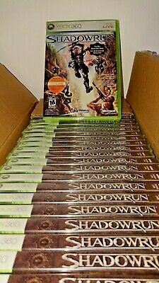 Lot of Shadowrun for Microsoft Xbox 360 ( 30 Factory Sealed Copies )