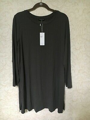 b9cb783adef Eileen Fisher Long Round Neck Tunic Top Bark Color Sz XL 190428571579 New  W/Tag
