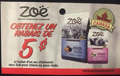 Lot of 10 x 5.00$ Zoe Products Coupons Canada