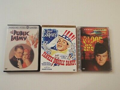 3-lot-DVD-James Cagney-The Public Enemy-Yankee Doodle Dandy-Blood On The Sun***
