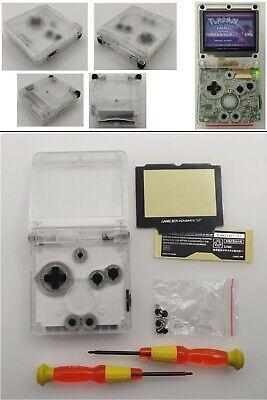Transparent Clear White Shell Housing Case For Game Boy Advance SP GBA SP
