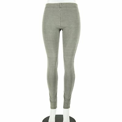 Alice + Olivia Pewter Grey Cotton Elastic Waist Back Zip Skinny Leg Pants Size 2