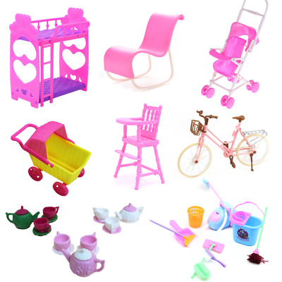Miniature Dollhouse Toy Set Sofa Bed Chair Furniture Model Fits Mini Doll House