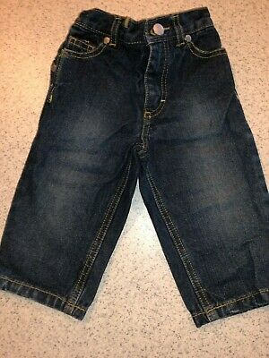 Boys Blue Denim Jeans Pants By Kenneth Cole Reaction 12 Months Elastic Waistband