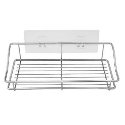 Waterproof Stainless Steel Vacuum Sucker Storage Rack Wall Hanger Shelf #gib