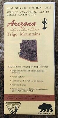 Usgs Blm Edition Topographic Map Arizona - Trigo Mountains
