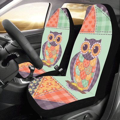 Front Car Seat Covers Owl Auto Protector Cushion Universal Fit Most Cars