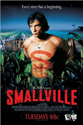 SMALLVILLE WB Series PREMIERE POSTER Tom Welling SUPER