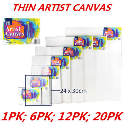 Blank Painting Canvas Artist Stretched White Primer Oil Acrylic Board Frame 2430