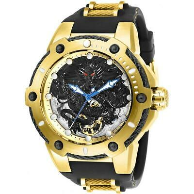 Invicta Bolt 26315 Gold-Tone Men's Mechanical Polyurethane Dragon Motif Watch