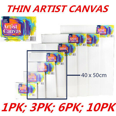 Blank Painting Canvas Artist Stretched White Primer Oil Acrylic Board Frame 4050