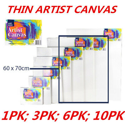 Blank Painting Canvas Artist Stretched White Primer Oil Acrylic Board Frame 6070