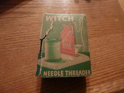 VINTAGE Witch Needle Threader IN BOX - Made in West Germany - BOX IS DAMAGED
