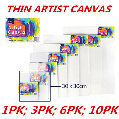 Blank Painting Canvas Artist Stretched White Primer Oil Acrylic Board Frame 3030