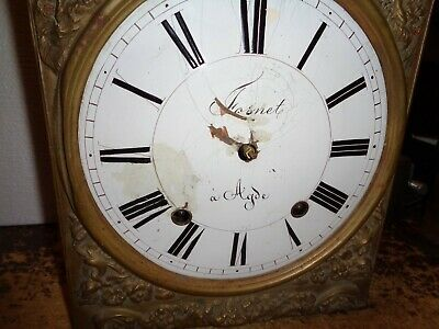 Antique-French-Morbier Clock Movement-Ca.1880-To Restore-#T494